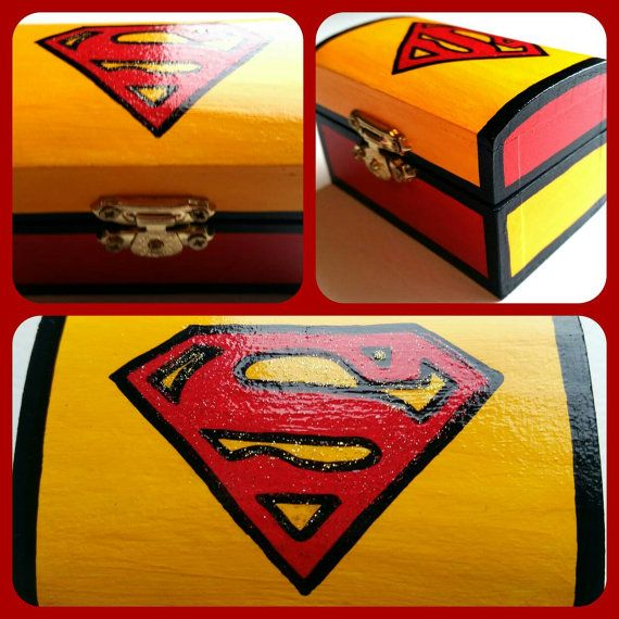 Check out this item in my Etsy shop https://www.etsy.com/listing/241065106/superman-ring-box-engagement-ring-box
