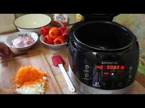 Домашние видео рецепты - фаршированные перцы с куриным мясом в мультиварке - YouTube