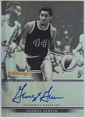 """2012-13 leaf metal basketball auto:george #gervin ##18/50 #autograph """"iceman"""" spu,  View more on the LINK: http://www.zeppy.io/product/gb/2/300910366933/"""