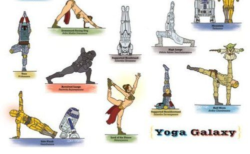 May the 4th be with you! Little late, but Star Wars Yoga Cartoons are ALWAYS cute. :)