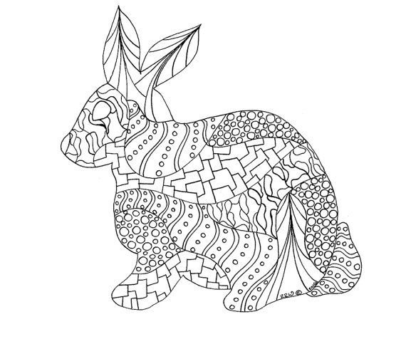 Bunny Coloring Page Pages Adult By Wordsremember