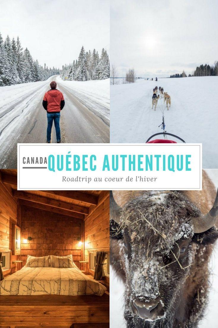 Un de nos plus beaux roadtrip ! Pour une carte postale du Québec en hiver oarfaite, fait de balade en traineau à chien, motoneige, spa de source chaude au milieu de la neige, nuit dans des hôtels de rondins et des cabanes de bois, marche sur lac gelé, forêts enchantées à traverser... #Canada #Quebec #QuebexAuthentique #authentique #Mauricie #Lanaudiere #hiver #neige #chien #traineau #traineauachien #chiendetraineau #motoneige #skidoo #spa #chalet #cabane #lac #foret #nature