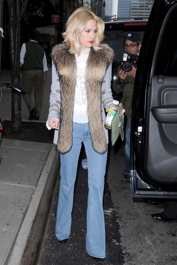 January Jones in MiH Marrakesh jeans