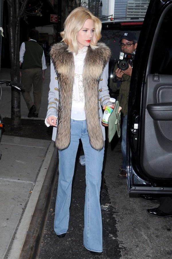 January Jones in MiH Marrakesh jeans