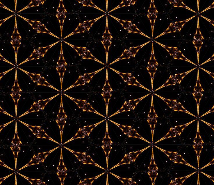 Eiffel Tower, Paris, Kaleidoscope #paris #eiffeltower #toureiffel #kaleidoscope #diy #art #design #digital art #black and gold #symmetry #mandala #teleidoscope