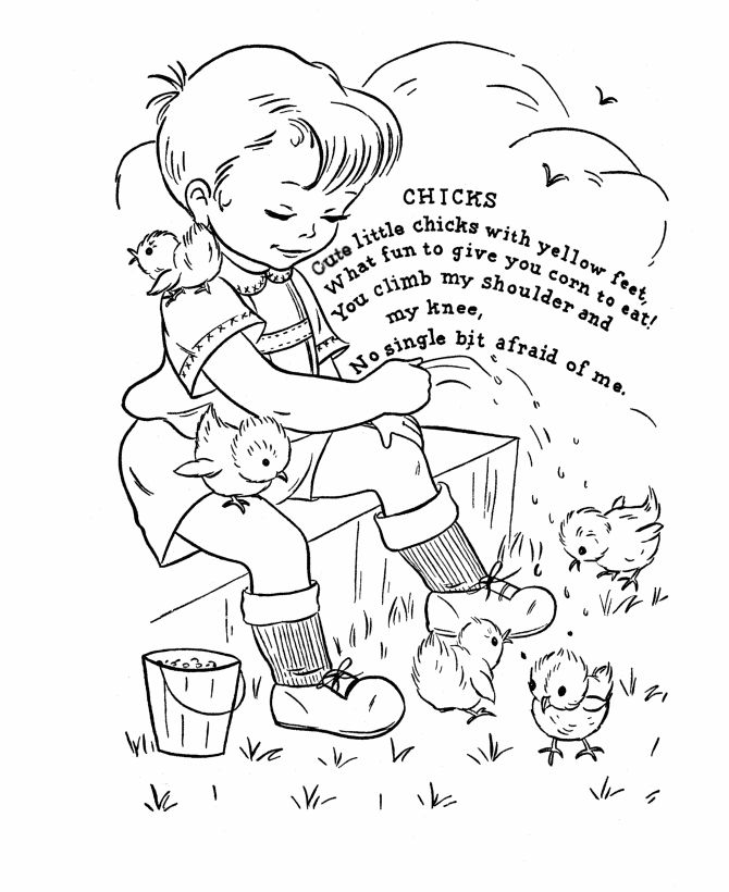 Nursery Rhyme coloring page Chicks
