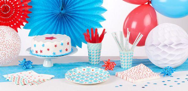 """Addobbi e decorazioni per feste a tema """"Geometrie blu"""" su VegaooParty"""