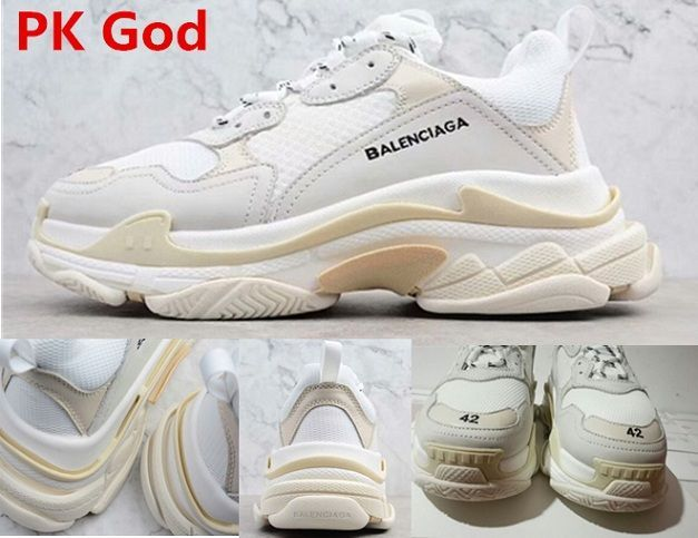 f68bc40dc1c6d Balenciaga Triple S Trainer White Authentic PK God fashion sneakers  discount code release date 2018 authentic vs replica check usa
