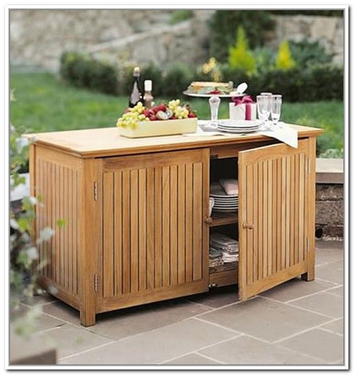 Gorgeous Outdoor Patio Storage Ideas Outdoor Patio Storage Table