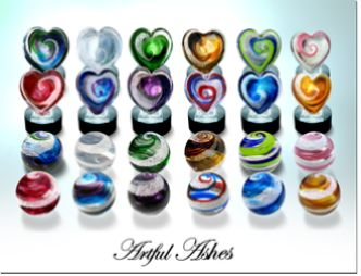 Artful Ashes - Home This company takes a small amount of ashes and turns them into beautiful pieces of art.