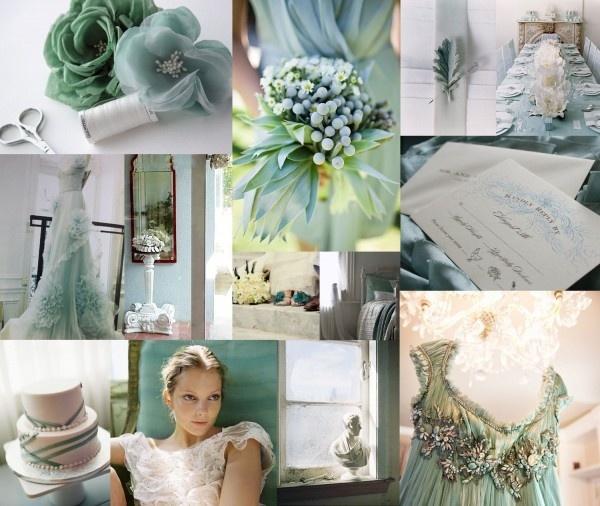Ice blue and jade green wedding-ideas