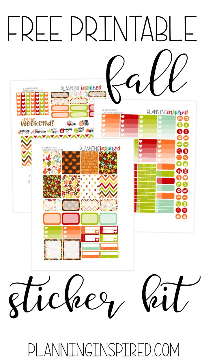 Free Printable Fall Planner Sticker Kit from Planning Inspired