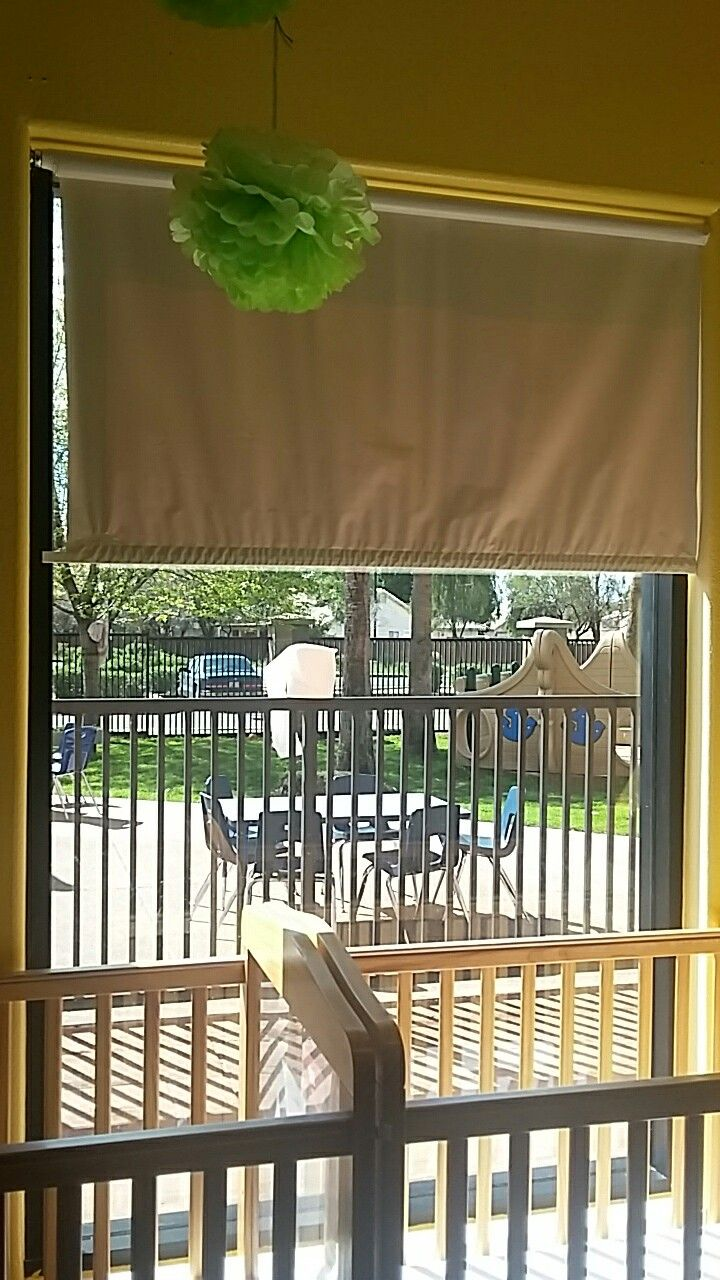 use this pull down blind instead of dangling blinds or curtains