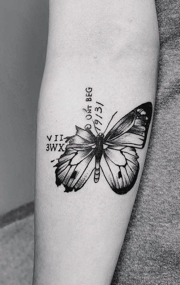 f1a36a2b0349c 46 Beautiful and Cute Butterfly Tattoo Designs to get that Charm 2019 Part 2;  butterfly