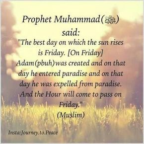 friday, best day, and hadith image
