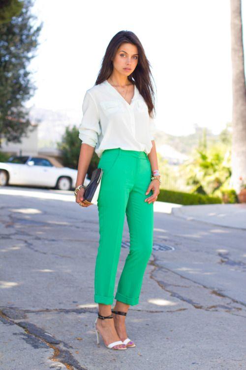 Bevorzugt Les 25 meilleures idées de la catégorie Pantalon couleur vert  AP36