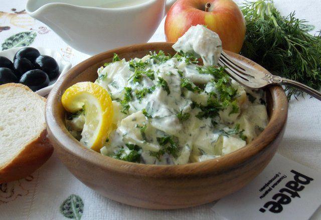Салат из  филе  сельди