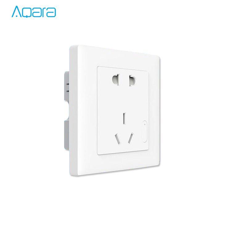 >> Click to Buy << 2017 New,Original Xiaomi Aqara Smart Wall Socket  ZigBee wifi Remotel Control Wireless Switch Work for Xiaomi Smart home kits #Affiliate
