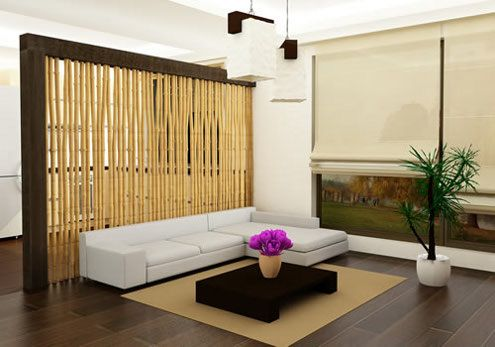 Bamboo Kitchen Living Room Divider