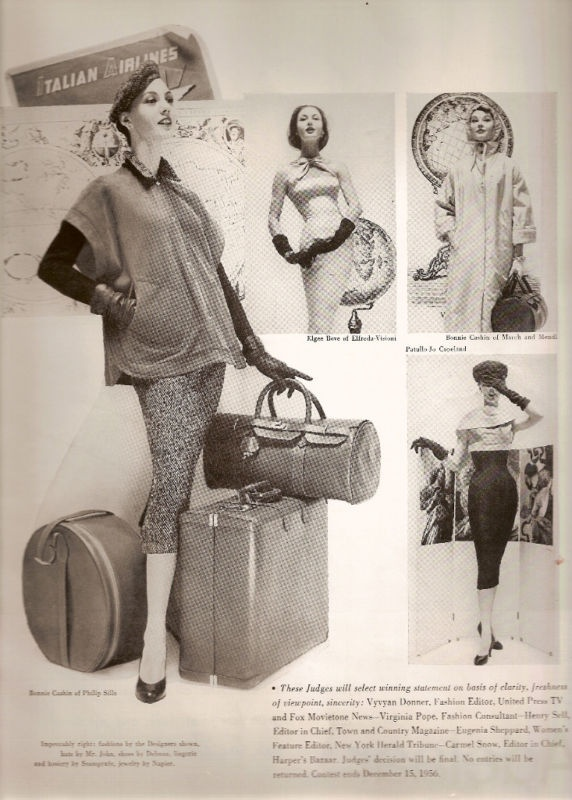 Italian Airlines Fashion Advertisement 1956 | eBay