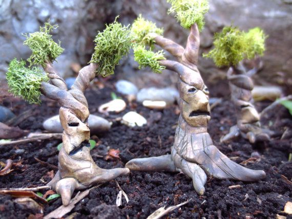 Troublesome Tree..Fairy House Miniature One Tree by FaerieNest