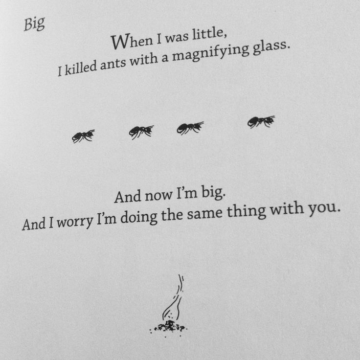 from egghead by bo burnham, which you should probably read.