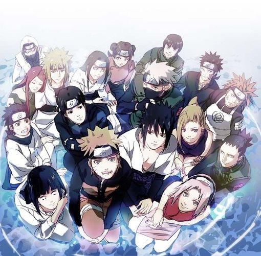 Naruto Shippuden- I love how everybody except Sasuke and Minato are looking at us...MInato is looking at his wife Kushina and Sasuke is staring hard core at Naruto...LOL