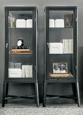 Fabulous metal cabinets from IKEA #cabinets