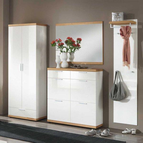 Garderobenkombination Apyna In 2020 Garderoben Set Hochglanz Garderobenset