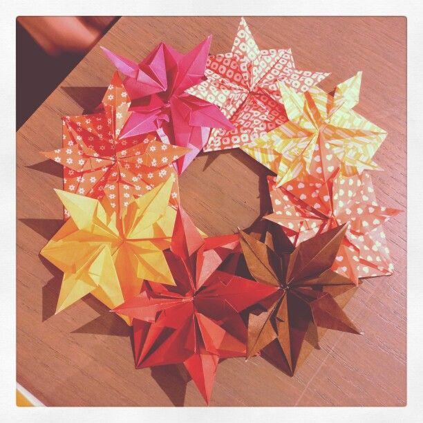 Christmas modular origami