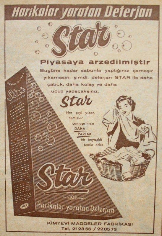 OĞUZ TOPOĞLU : star deterjan 1959 nostaljik eski reklamlar