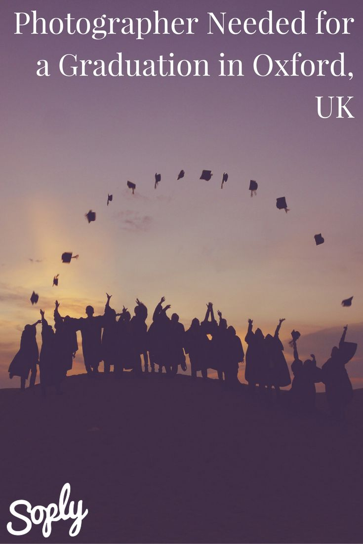 Photographer needed to take graduation photos in Oxford, UK. The client will only need you for about an hour, and is a visiting student. See more info and speak to the client via the pin!