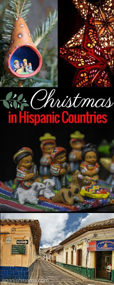 Christmas in Spanish-Speaking Countries: A Collection. Find posts about Navidad in Hispanic countries that include songs, books, crafts, recipes, infographics, videos, and more. Includes posts about Los Tres Reyes, Noche Buena, Las Posadas, and Parrandas. Traditions from Mexico, Peru, Ecuador, Spain, and Puerto Rico..