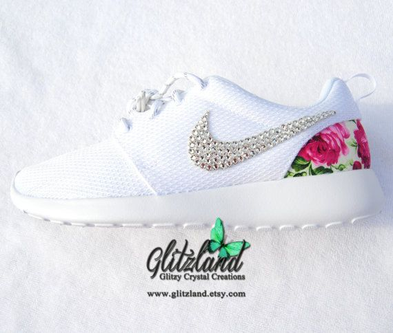 The Pink floral fabric print (Pic 3) is used on the heel of each shoe. The fabric heel is placed on with a heat and bonding process and then sprayed with Scotch Guard protector. Even though I have treated the heel with Scotch Guard I do not recommend getting the heel wet. These Nike shoes