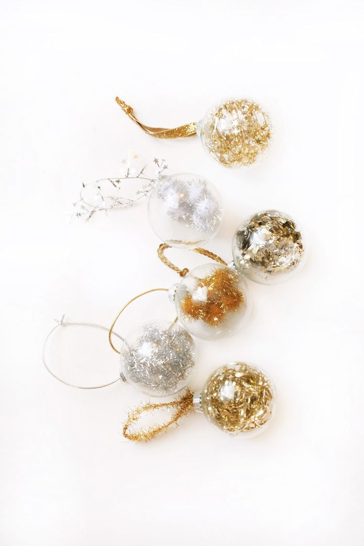 Handmade glass christmas ornaments - Diy Fancy Filled Ornaments
