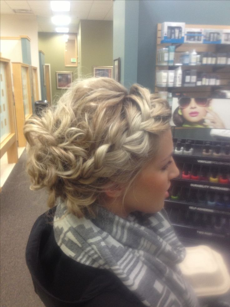 Braided updo...really wish my hair would do stuff like this.