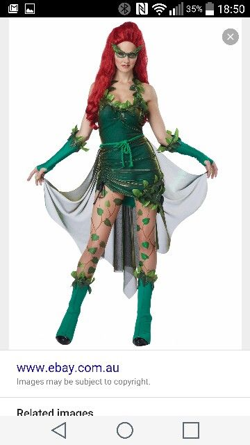 california costumes womens eye candy lethal beauty adult poison ivy costume green x large - Ebaycom Halloween Costumes