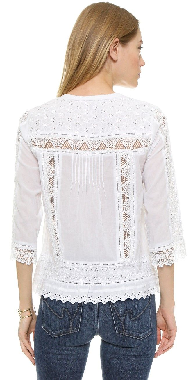 Rebecca Taylor Cotton Voile Top | 15% off first app purchase with code: 15FORYOU