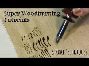 Quema de madera y pirografía y pirograbado - Técnicas de trazo y Tutorial - YouTube