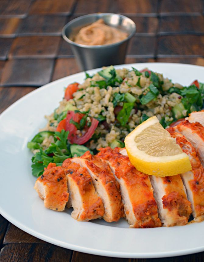 Hummus Crusted Chicken-- healthy, easy, quick, and delicious! | blog.hostthetoast.com