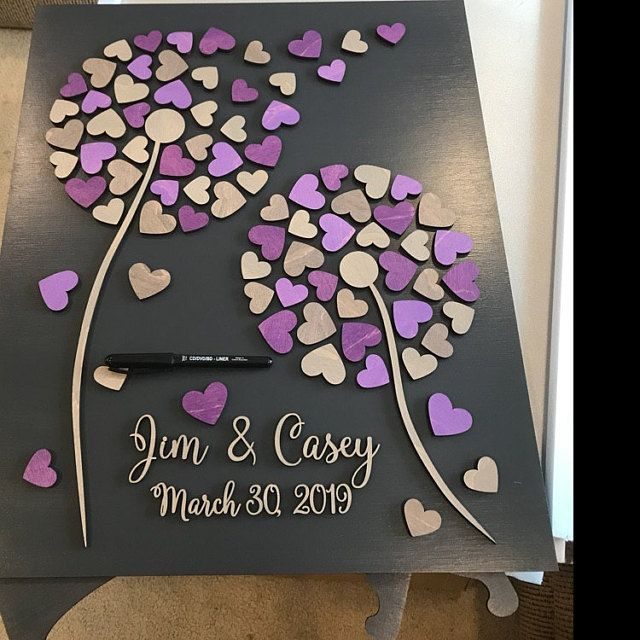 2019 wedding gift wedding sign alternative Wedding Guestbook purple wedding Wedding guest book alternative gift Wedding guestbooks