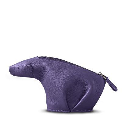 bear purse violet