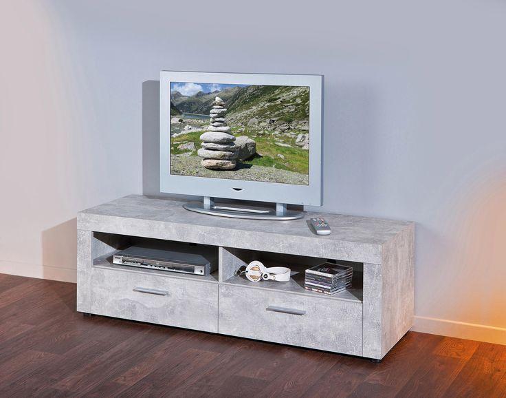 TV-Lowboard grau, strapazierfähig, FSC®-zertifiziert, yourhome Jetzt bestellen unter: https://moebel.ladendirekt.de/wohnzimmer/tv-hifi-moebel/tv-lowboards/?uid=be51fb60-6661-554a-a99b-8e81d2b7bb18&utm_source=pinterest&utm_medium=pin&utm_campaign=boards #tvlowboards #wohnzimmer #tvhifimoebel