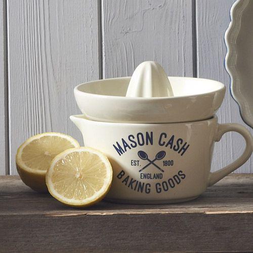 Presse-agrumes en gré crème avec récipient Varsity Mason Cash