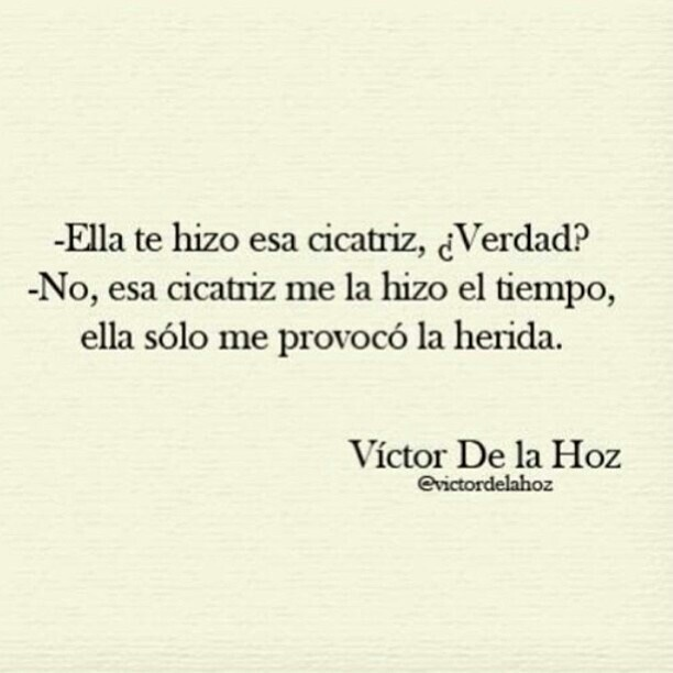 cicatriz, Victor De La Hoz