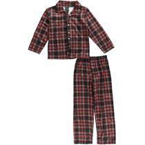 """American Hero Big Boys' """"Plaid Sleeper"""" 2-Piece Pajamas (Sizes 8 - 20)"""