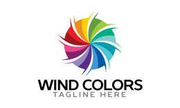 Wind Colors Logo Template