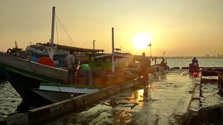 PELABUHAN KARTINI at JEPARA  when the sun is rising...