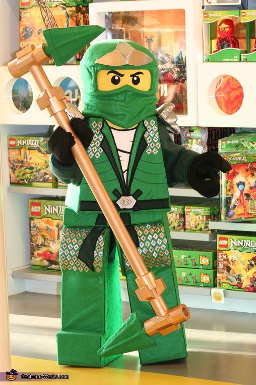 Lego Ninjago Green Ninja Costume - Halloween Costume Contest via @costumeworks