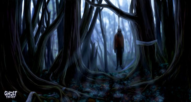 This is our artwork of Aaokigahara (Suicidal Forest) - one of the locations that is going to be featured in the game. See more at www.ghost-theory.com